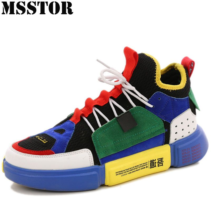 MSSTOR Women Men Skateboarding Shoes Man Brand Lovers Flat With Walking Sport Shoes For Women Outdoor Athletic Womens Sneakers