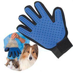 1 peça Luva para Gatos Pet Grooming Comb Escova Penugem Do Pescoço do animal de Estimação Do Gato Deshedding Escova Luva para o Cão Animal de Estimação Cabelo luva para o Cão Do Gato