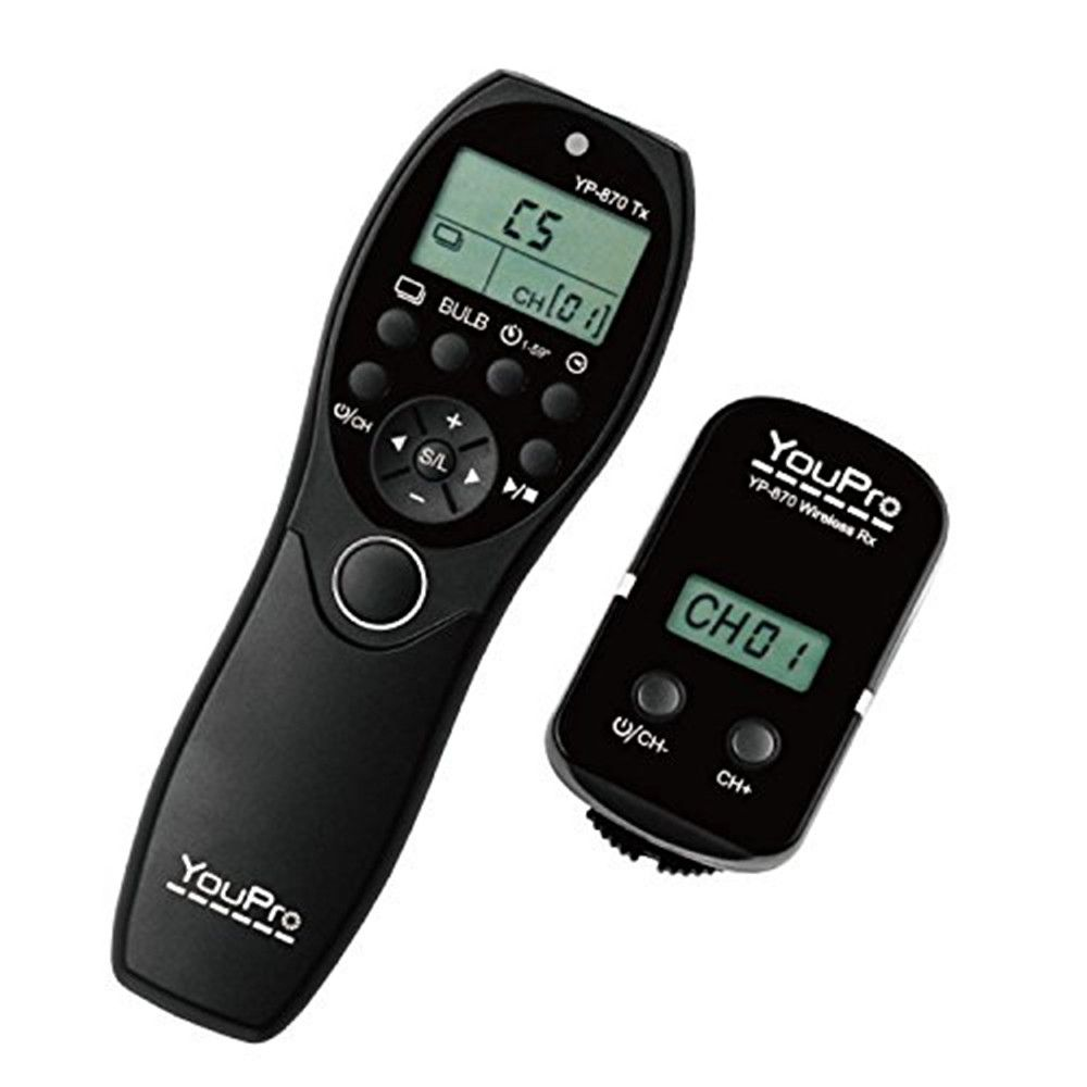 YouPro YP-870II/UC1 2.4G Wireless Shutter Timer Remote Control for Olympus E-620/600/550/520/30/M10/M5/M1 E-PL7/6/5/3/2 E-P5/3/2
