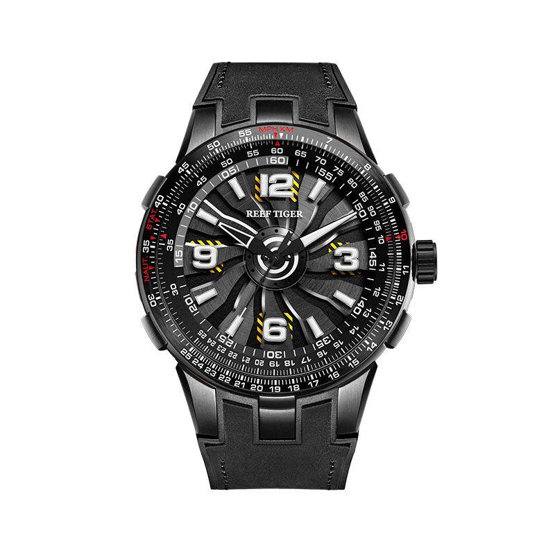 Neue Riff Tiger/RT Männer der Sport Automatische Uhren Schwarz Stahl Militär Uhr Leuchtende Uhr Wasserdicht 2018 Luxus Marke RGA3059