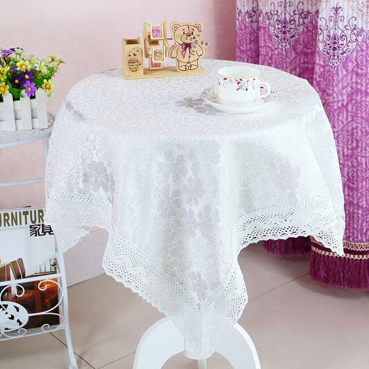 Européen haute qualité petite nappe de thé nappe ronde rectangulaire fleur bourgeon imperméable à l'eau maison fête de mariage décoration