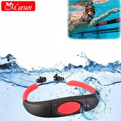 M.uruoi Sport Headphones 8GB Underwater Music MP3 FM Headset Neckband Stereo Earphone Waterproof Portable For Diving Swimming
