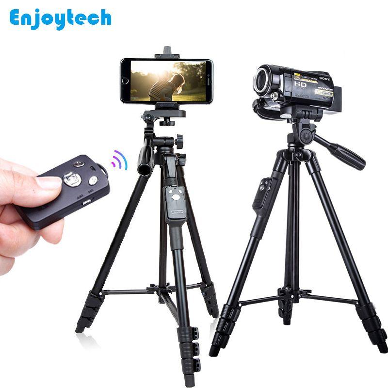 5218 Professionnel Trépied avec Support Bluetooth À Distance pour Iphone Samsung Xiaomi Téléphones Trépied pour Nikon/Canon DSLR Caméras