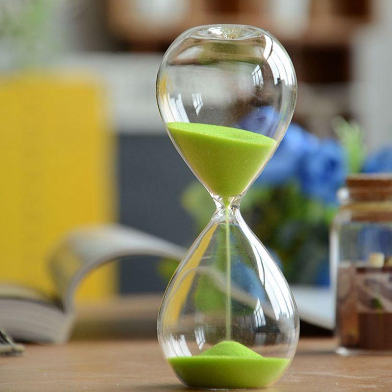 Mode sable Sablier 5 minutes Sablier Compteur de Temps Compte à Rebours Minuterie Verre Horloge Creative Cadeau Home Decor Couleur Aléatoire