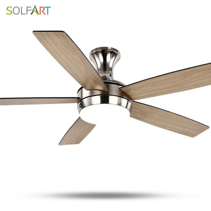 SOLFART deckenventilator moderne holz deckenventilator mit licht für schlafzimmer esszimmer moderne kronleuchter ce UL SLF2075