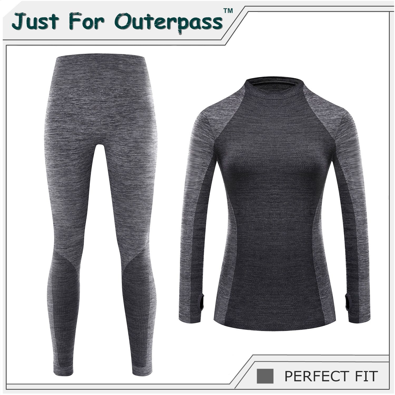 Just For Outerpass Brand 2017 New Winter Thermal Underwear Women Elastic Breathable Female HI-Q Casual Warm Long Johns Set