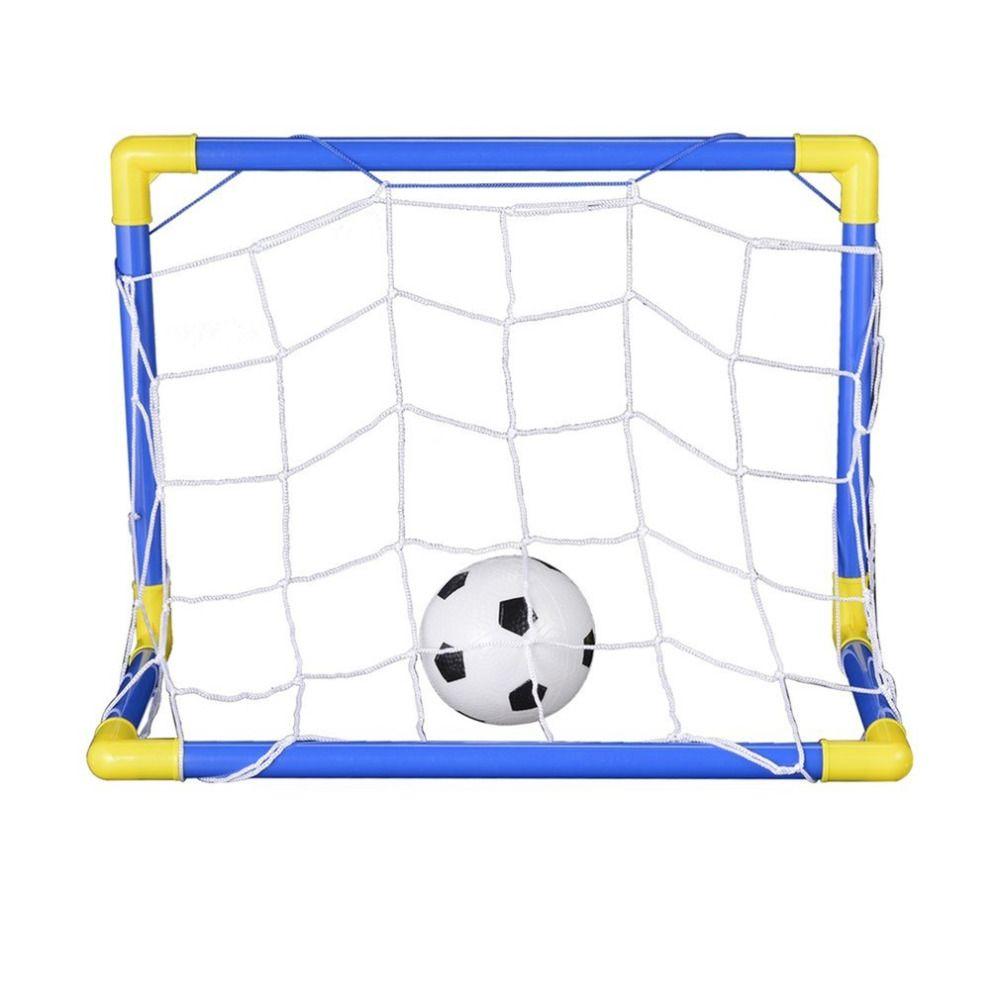Falten Mini Fußball Fußball Torpfosten Net Set + Pumpe kinder Sport Indoor Outdoor Spiele Spielzeug Kind Geburtstagsgeschenk Kunststoff Heißer!