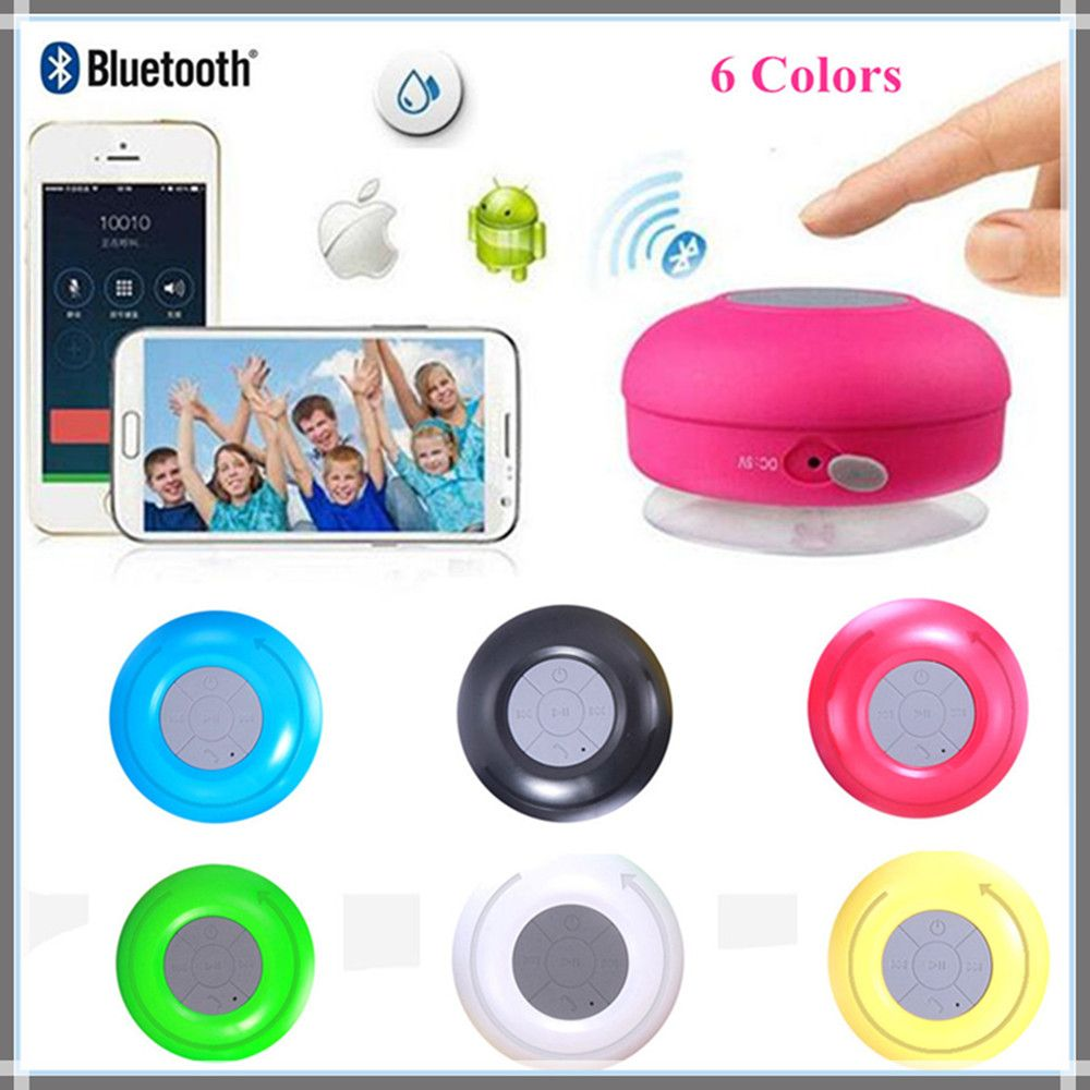MKUYT BTS-06 Mini Portable Subwoofer Shower Waterproof Wireless Bluetooth Speaker Receive Call Music Suction Mic