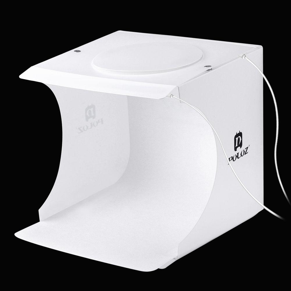 Tragbare 2 LED Panels Folding leuchtkasten Fotografie Foto Studio Softbox Beleuchtung Kit Licht box für iPhone Digitale DSLR Kamera