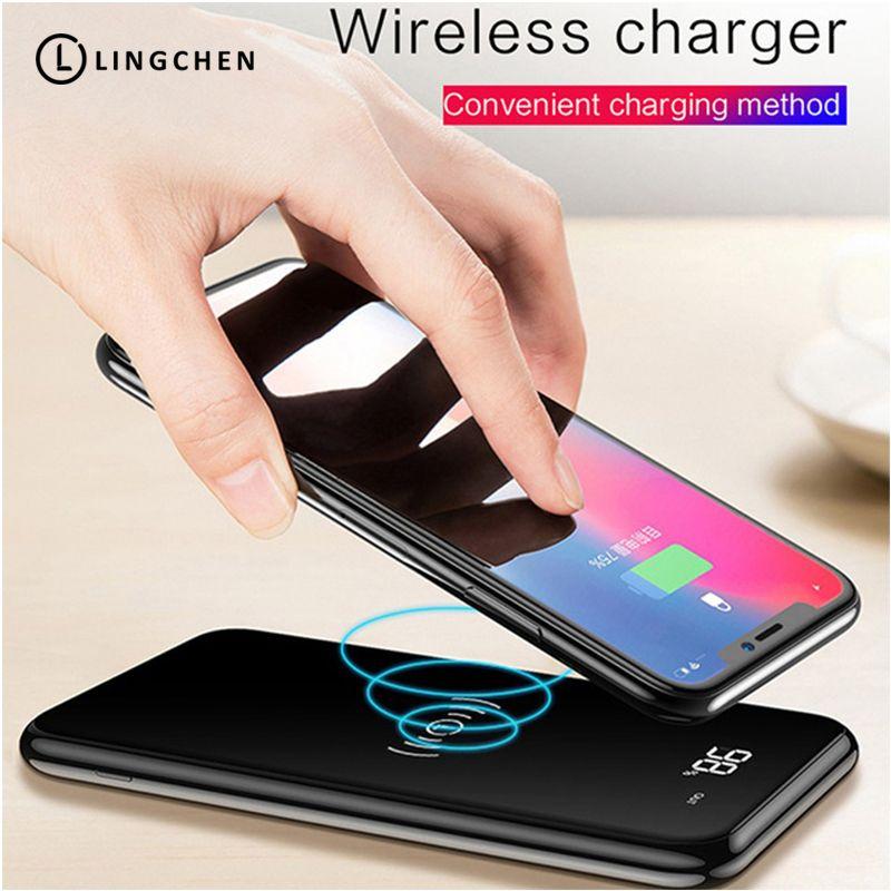 Power Bank 10000 mah Drahtlose Teig Telefon Ladegerät Mit Digtal Display Power Für Samsung note8 9 Handys Für iPhone 8X9