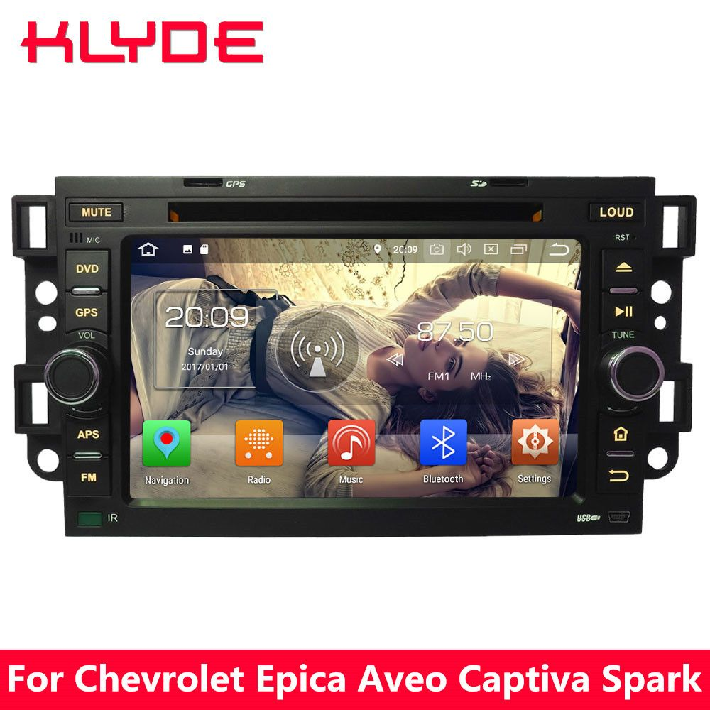 KLYDE Octa Core 4G Android 8 7 4GB RAM 32GB ROM Car DVD Player Stereo For Chevrolet Holden Optra Kalos Aveo Captiva Epica Spark