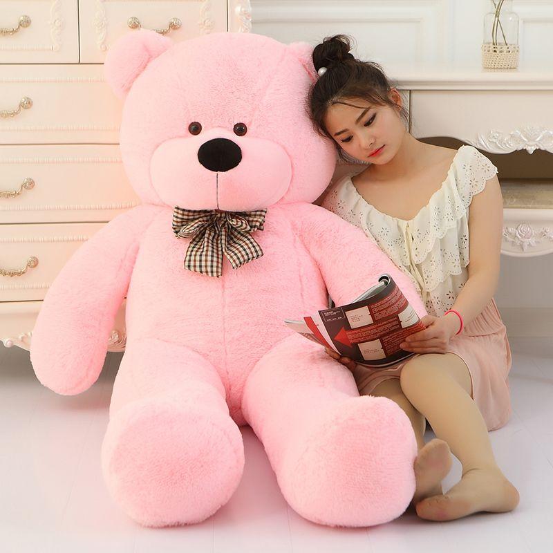 Grande vente géant ours en peluche doux 160cm 180cm 200cm 220cm taille réelle grand énorme grande peluche peluche jouet poupées fille anniversaire saint-valentin