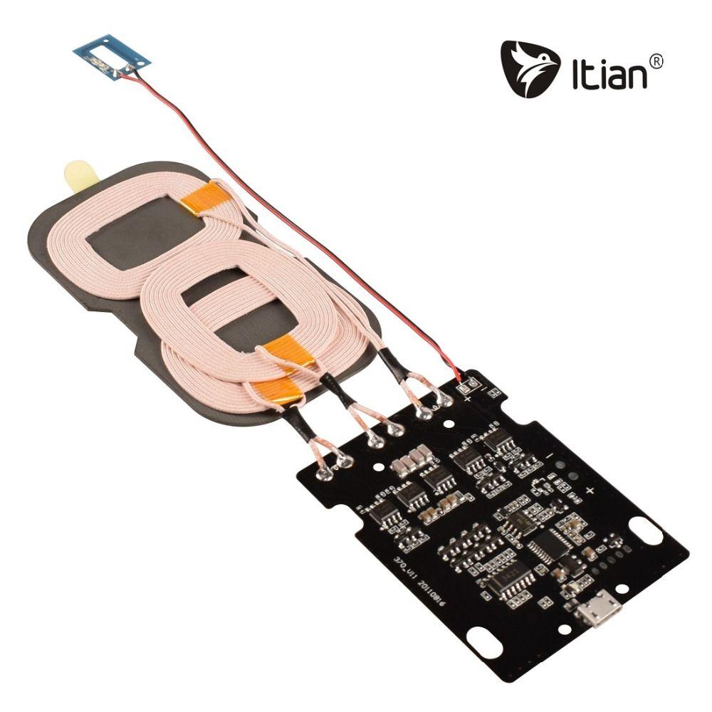 10 W Rapide Qi De Charge Solution, Itian Sans Fil De Charge Pad 3 Bobines DIY PCBA pour iPhone 8 Samsung Note8 S8 S8 + S7 Bord Note5 S6