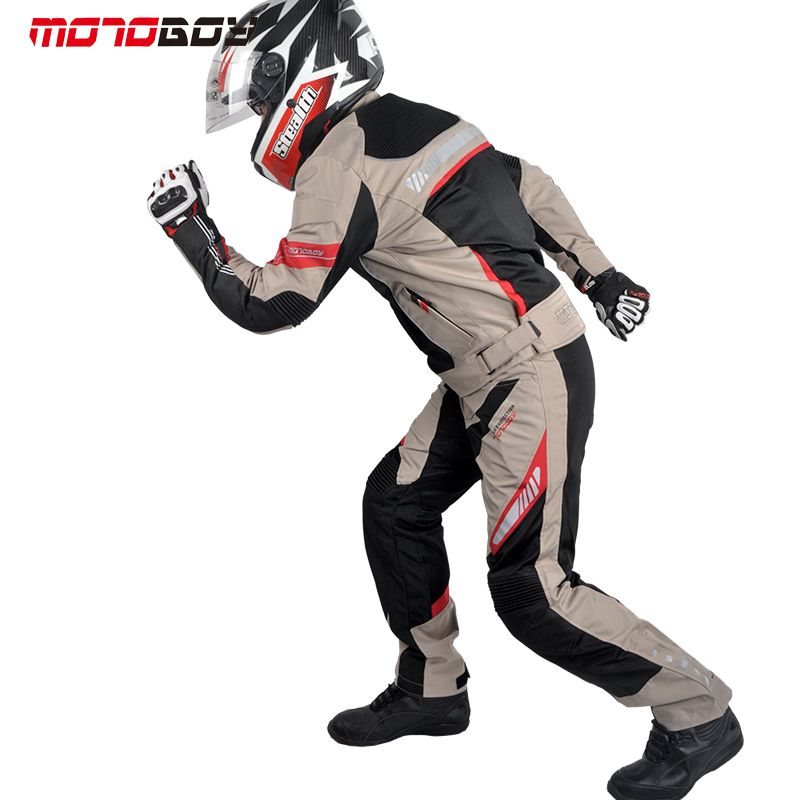 NEW motoboy summer breathable motorcycle jacket and pant inside waterpoof raincoat line motorbike drop set protective free EMS
