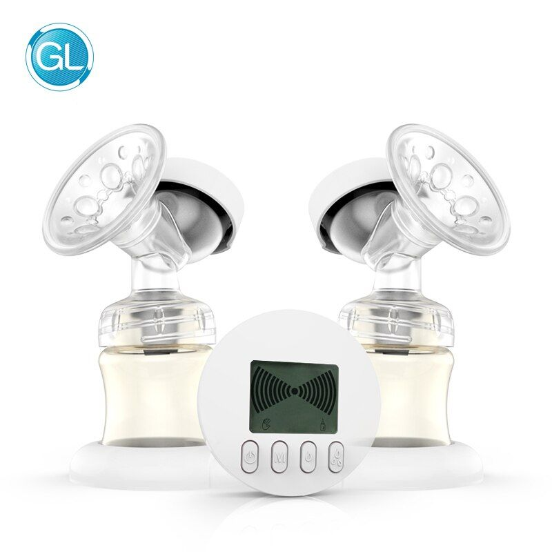 GL Doppel Elektrische Brust Pumpe Automatische Massage/Stillzeit Modus PPSU USB Ladung 9-Shift Saug Einstellung Lagerung Funktion