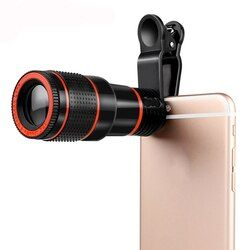 Lente telefoto teleobjetivo HD 12 x zoom telescopio Objetivos para cámaras para iPhone Huawei xiaomi con Clips Objetivos para cámaras
