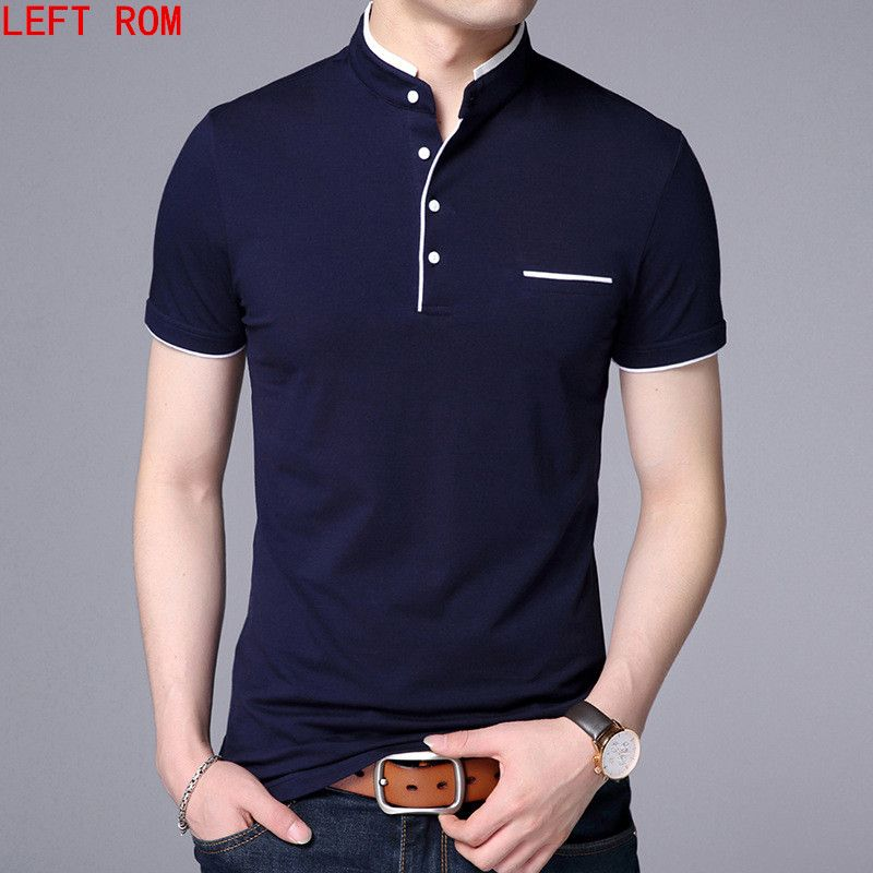 Haute Qualité Hommes Polo Shirt Hommes Manches courtes Solide Polo chemises Camisa Polos Masculina 2018 Casual coton Plus La taille S-3XL Tops