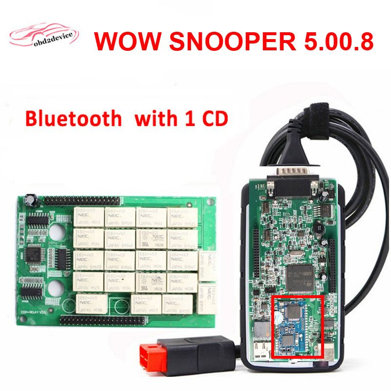 NEW NEC Relays WOW SNOOPER with Wurth 5.00.8 R1/R2 Car Bluetooth Diagnostic Tool TCS CDP PRO New Auto Scanner VCI MVDIAG