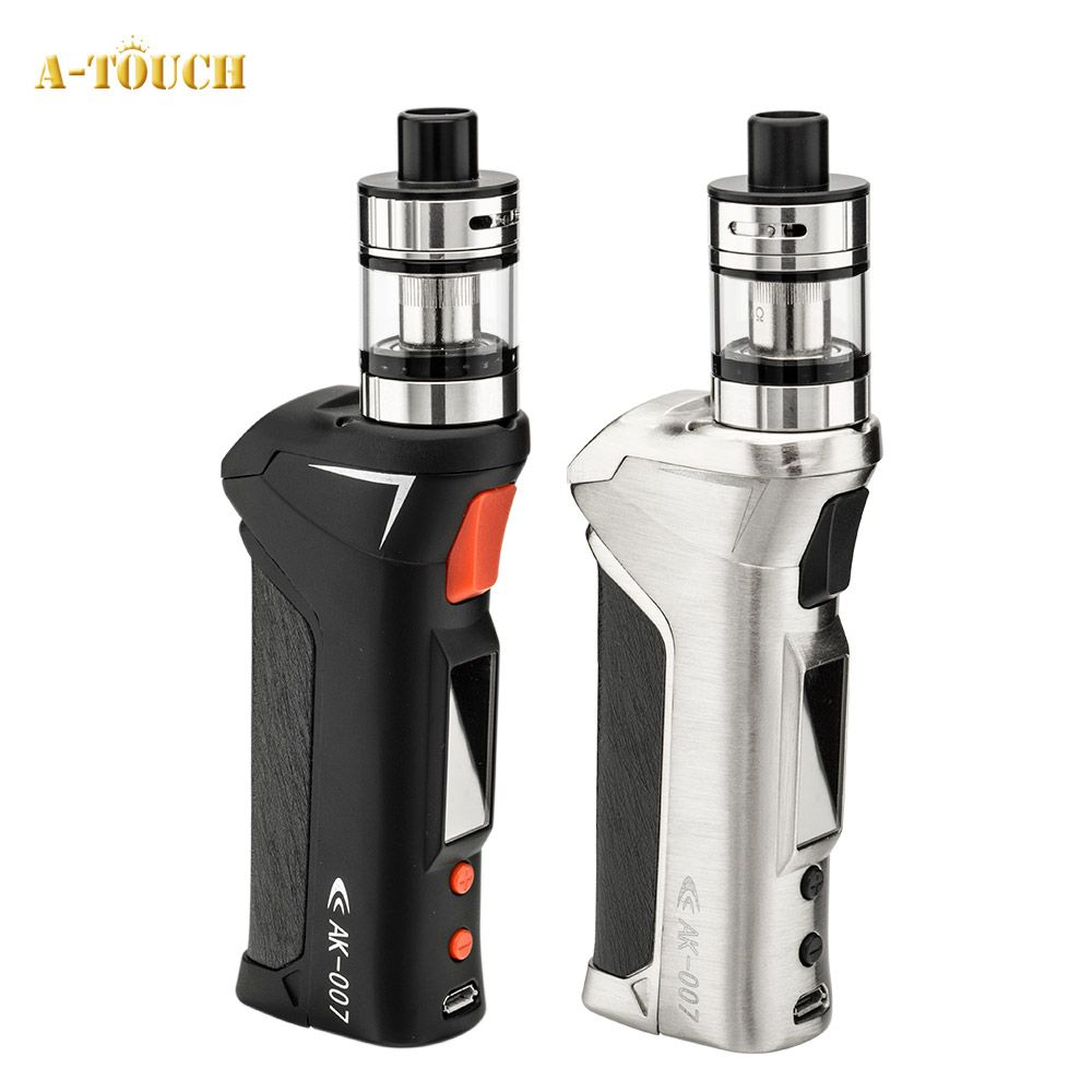 New Arrival A-touch AK-007 70W Vapor Kit with 2.5ml Atomizer 510 Thread Electronic Cigarette Starter Kit