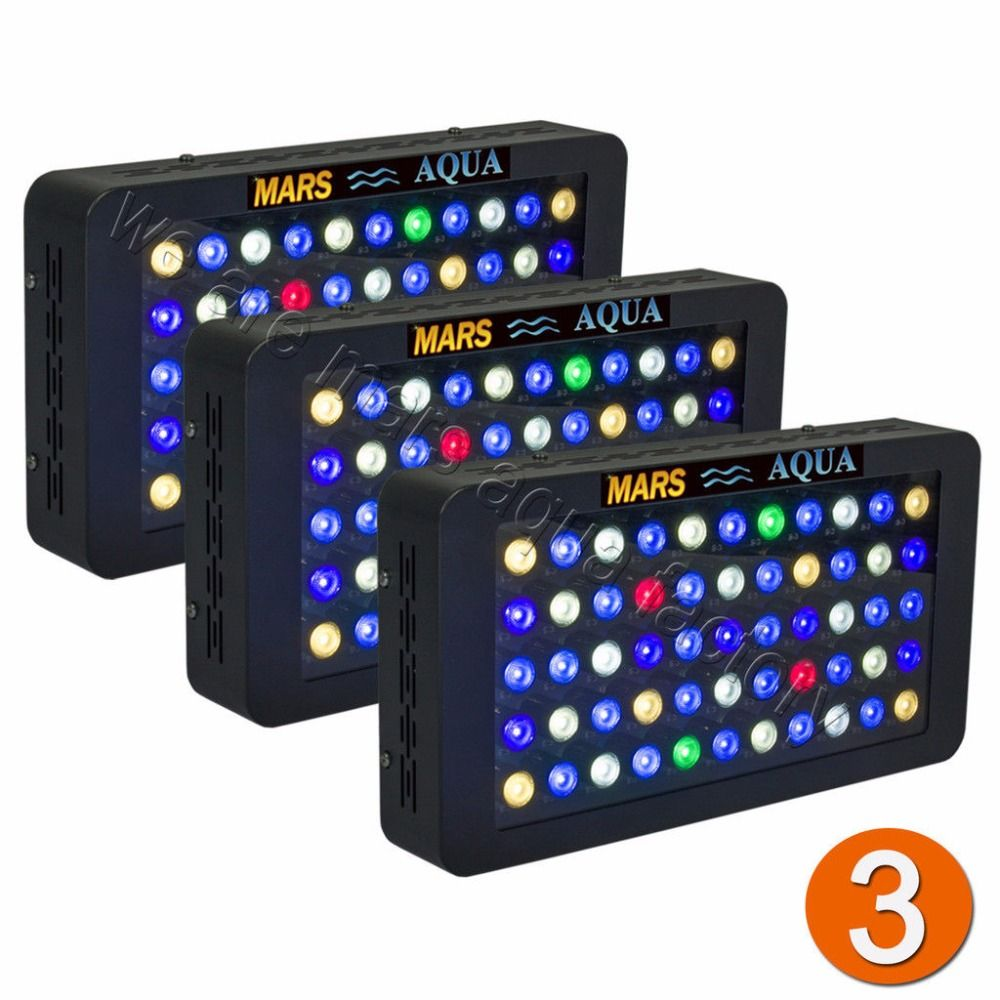 3PCS 165W LED Aquarium Light Dimmable Reef Coral Grow Tank Lamp Full Spectrum