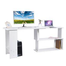 Esquina plegable giratorio escritorio en forma de L PC portátil mesa de trabajo de oficina Kid estudio escritura mesa de ordenador