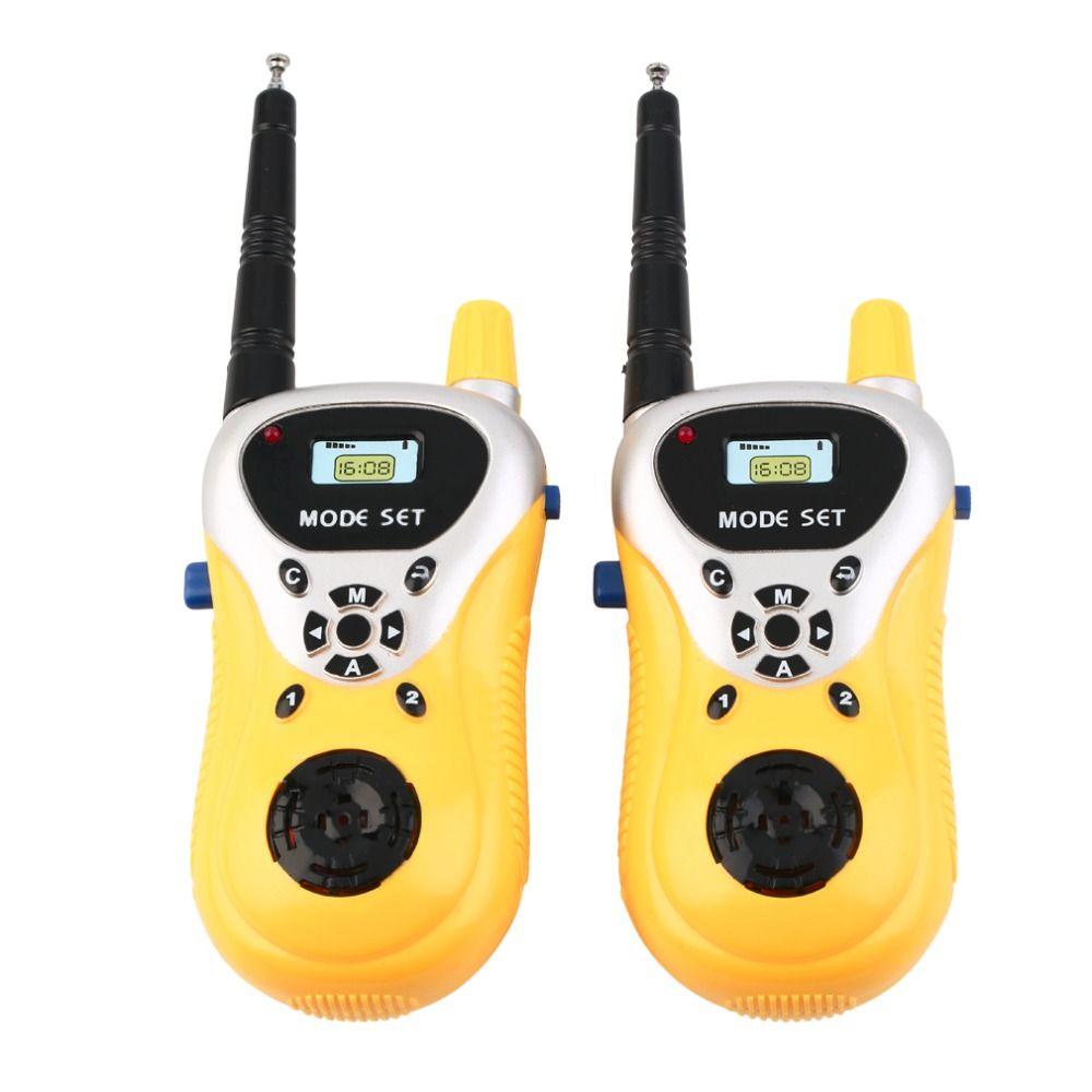 Связи электронный Двухканальные рации дети ребенок mni Игрушечные лошадки Портативный двусторонней Радио