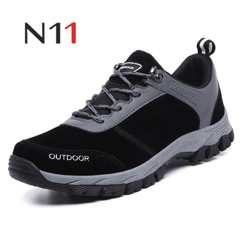N11 brand 2018 new autumn and winter men's warm fur & plush lace fashion men's non-slip casual shoes high quality large size hot