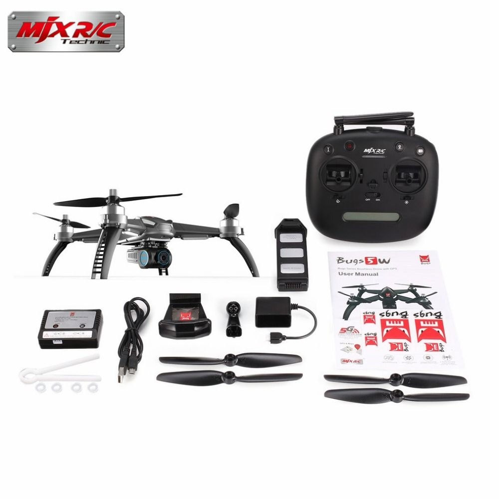 MJX Bugs 5W B5W GPS RC Drone with 1080P 5G Wifi FPV Adjustable Camera Brushless Motor Quadcopter drone Auto Return RC Helicopter