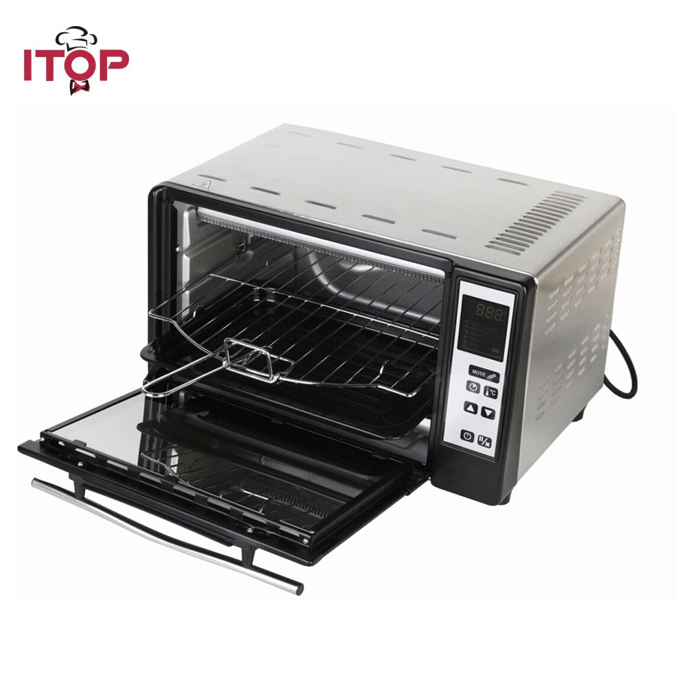 ITOP Electric Household Oven Pizza Bread Kebab Multifunctional Cooker EU Plug 5 Cooking Mode can be choosed