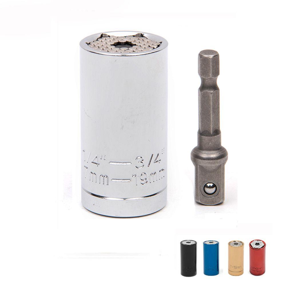 Ensemble d'outils de clé universelle adaptateur de douille avec adaptateur de perceuse électrique ensemble adaptateur de perceuse électrique Kit d'outils Reflex clé à cliquet