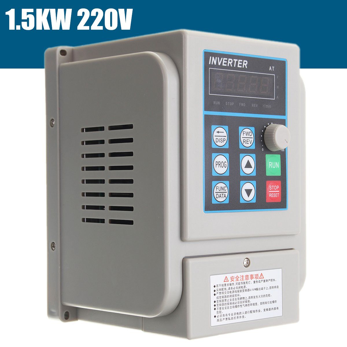 CNC Spindle motor speed control 1.5kw 220V VFD Variable Frequency Drive VFD 2HP frequency inverter for motor New Arrival