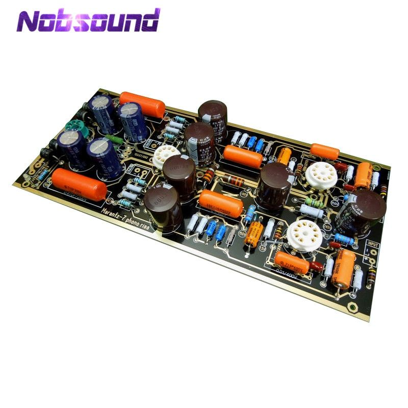 Nobsound Hi-End M7 Vacuum Tube Phono Riaa LP Turntable Preamplifier HiFi Stereo Marantz 7 Preamp Assembled Board(Without Tube)