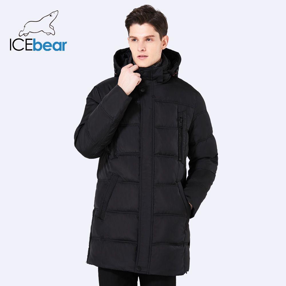 ICEbear 2017 Top Quality Warm Men's Warm Winter Jacket Windproof Casual Outerwear Thick Medium Long Coat Men Parka 16M899D