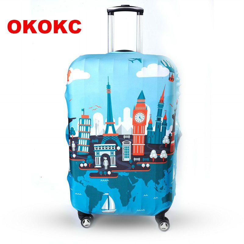 OKOKC bagages de voyage De Protection couvercle de valise couverture de bagages appliquer à 19 ~ 32 Pouces Case Excellente Élastique, accessoires de voyage