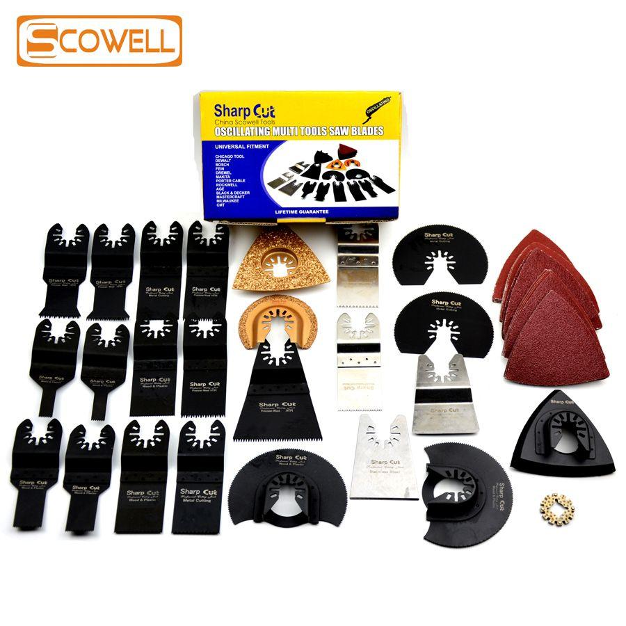50%! 50 pièces/ensemble outil oscillant lames de scie accessoires adaptés pour outils électriques Multimaster comme Fein, Dremel etc, livraison gratuite