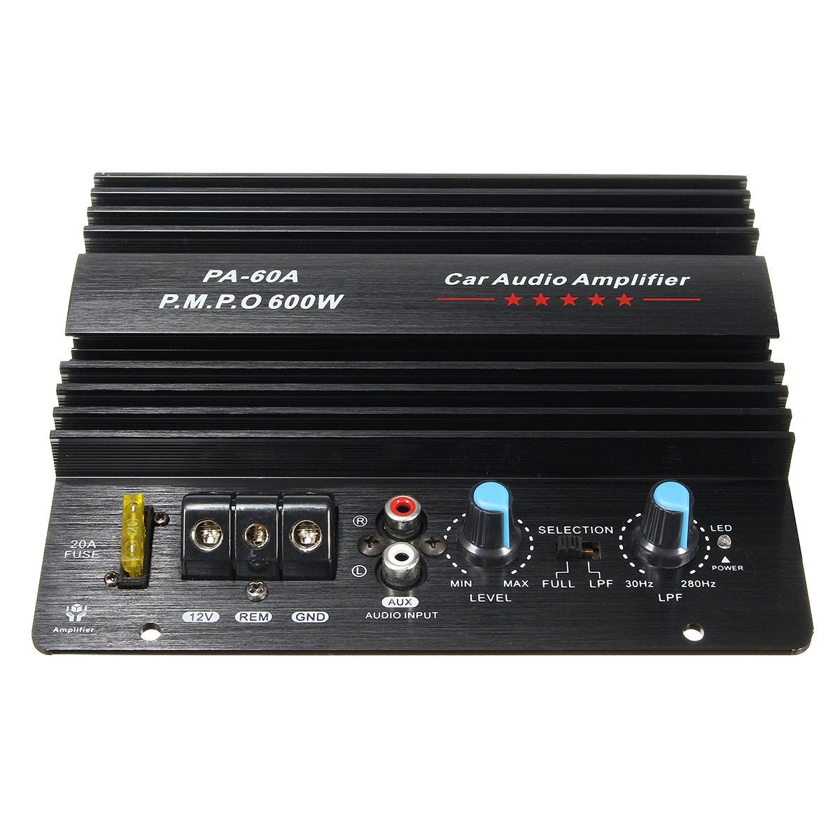 NEW 12V 600W Mono Car Audio Power Amplifier Powerful Bass Subwoofers Amp PA-60A