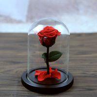 5 colores la hermosa cubierta de cristal fresco conservado Rosa flor boda casa cumpleaños fiesta coche Decoración