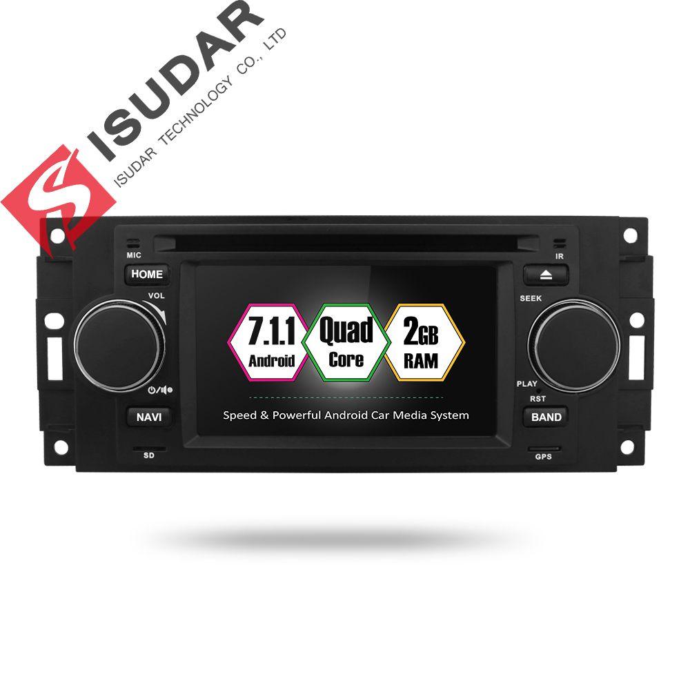 Isudar Auto Multimedia player android 7.1.1 5 Zoll Für Chrysler/300C/Dodge/Jeep/Commander/Kompass/ grand Cherokee Radio GPS DVD