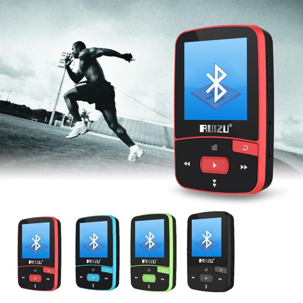 Ruizu X50 Спорт Bluetooth MP3 музыка MP3-плееры Регистраторы fm Радио Supprot SD карты клип Bluetooth MP3-плееры 8 ГБ 4 цвета выбор
