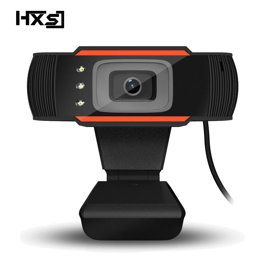 HXSJ 3LED HD Webcam 480P PC Camera with Absorption Microphone MIC for Skype for Android TV Rotatable Computer Camera USB Web Cam