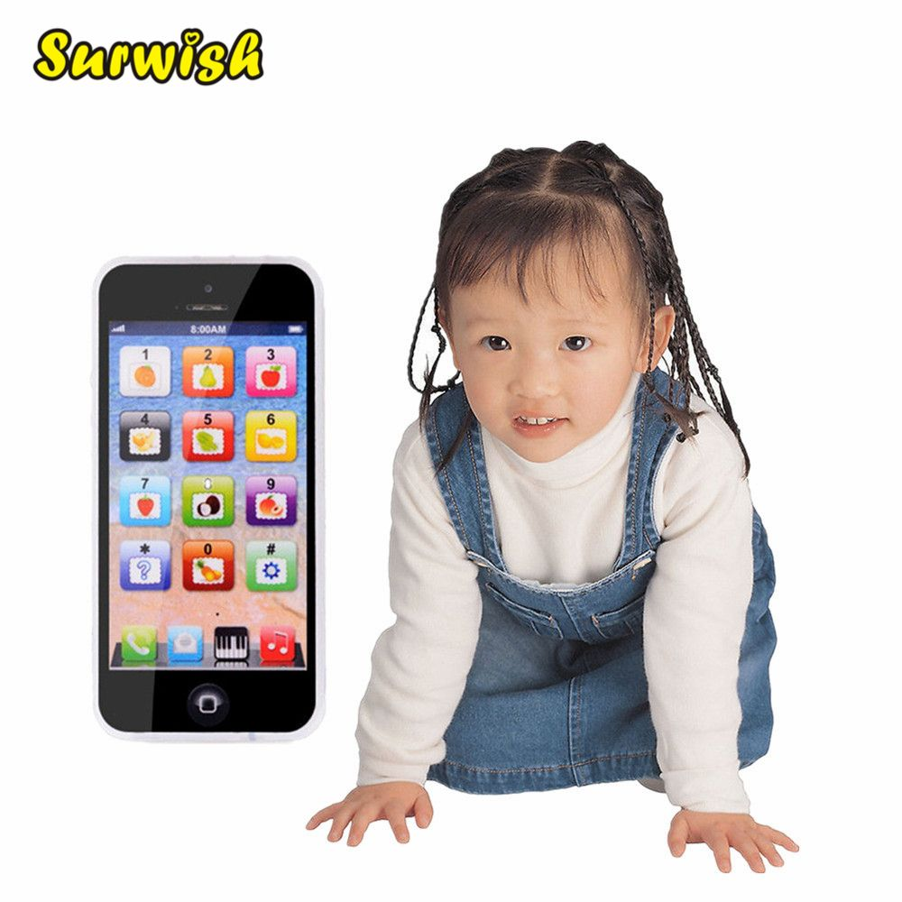 Surwish Touch Screen Multi-Functional Toy-phone 5S English Learning Playmobil With Dazzle Colored Light Kid Children's Toys