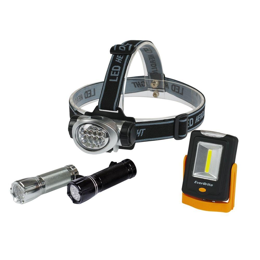 EverBrite 8LED Headlamp LED Flashlight <font><b>Work</b></font> light Emergency Light Camping Light