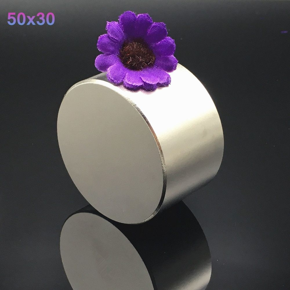 <font><b>1pcs</b></font> Neodymium magnet 50x30 N52 Super strong round magnet Rare Earth NdFeb N38 50*30mm strongest permanent powerful magnetic