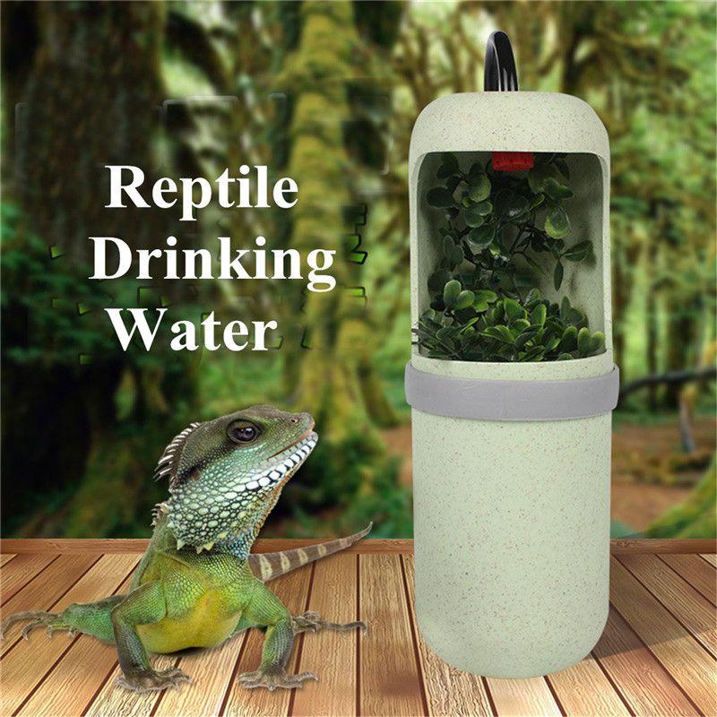 10X20 cm Automatische Wasser Trinken Reptil Trinkwasser Brunnen Eidechse Chameleon Fütterung Spender Terrarium Amphibien Lebensräume