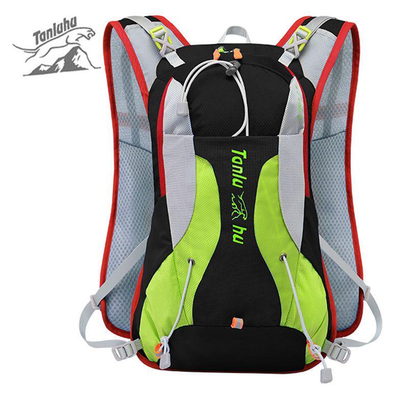 2017 Waterproof Nylon Vest Reflective Backpack for Bicycle Women Men Outdoor Sports Travel Mountain Bike Mini Rucksack XA284WD