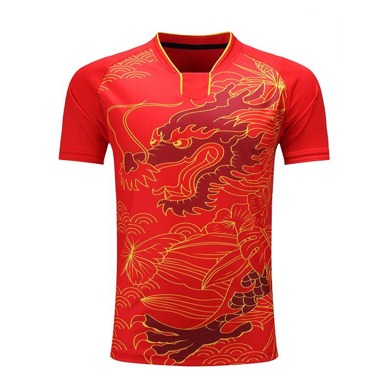 Freies Drucken CHINA Dragon Team tischtennis shirt Männer/Frauen, pingpong sport hemd, quick Dry tischtennis Trainning Shirts