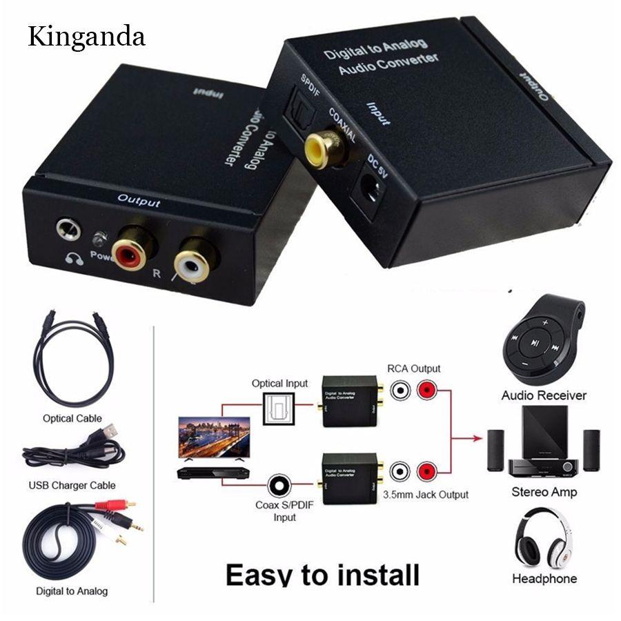 3.5 мм Цифровой коаксиальный Toslink оптический в аналоговый L/R RCA аудио конвертер адаптер 3.5 мм Джек женщиной 3.5 мм Jack Male Кабель USB