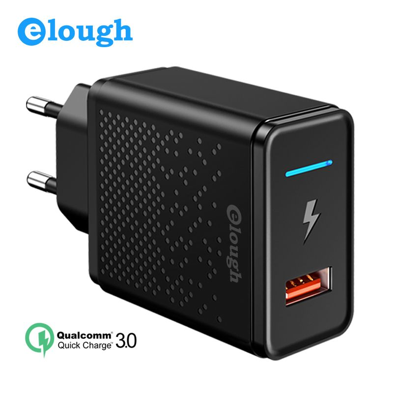 Elough 18W Quick Charge 3.0 4.0 USB Charger for Samsung Xiaomi Huawei iPhone EU Qualcomm Fast Mobile Phone Charger Power Adapter