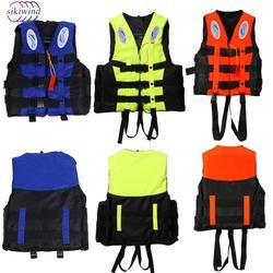 Life Vest Jacket Swimming Boating Ski Drifting Life Vest Polyester Adult Kids Universal Outdoor Survival Suit With Whistle
