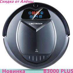 (Navire de Russie) LIECTROUX B3000PLUS Robot Aspirateur, Réservoir d'eau, Virtuel Bloqueur, Auto-Accusation, Écran Tactile, withTone, humide + sec